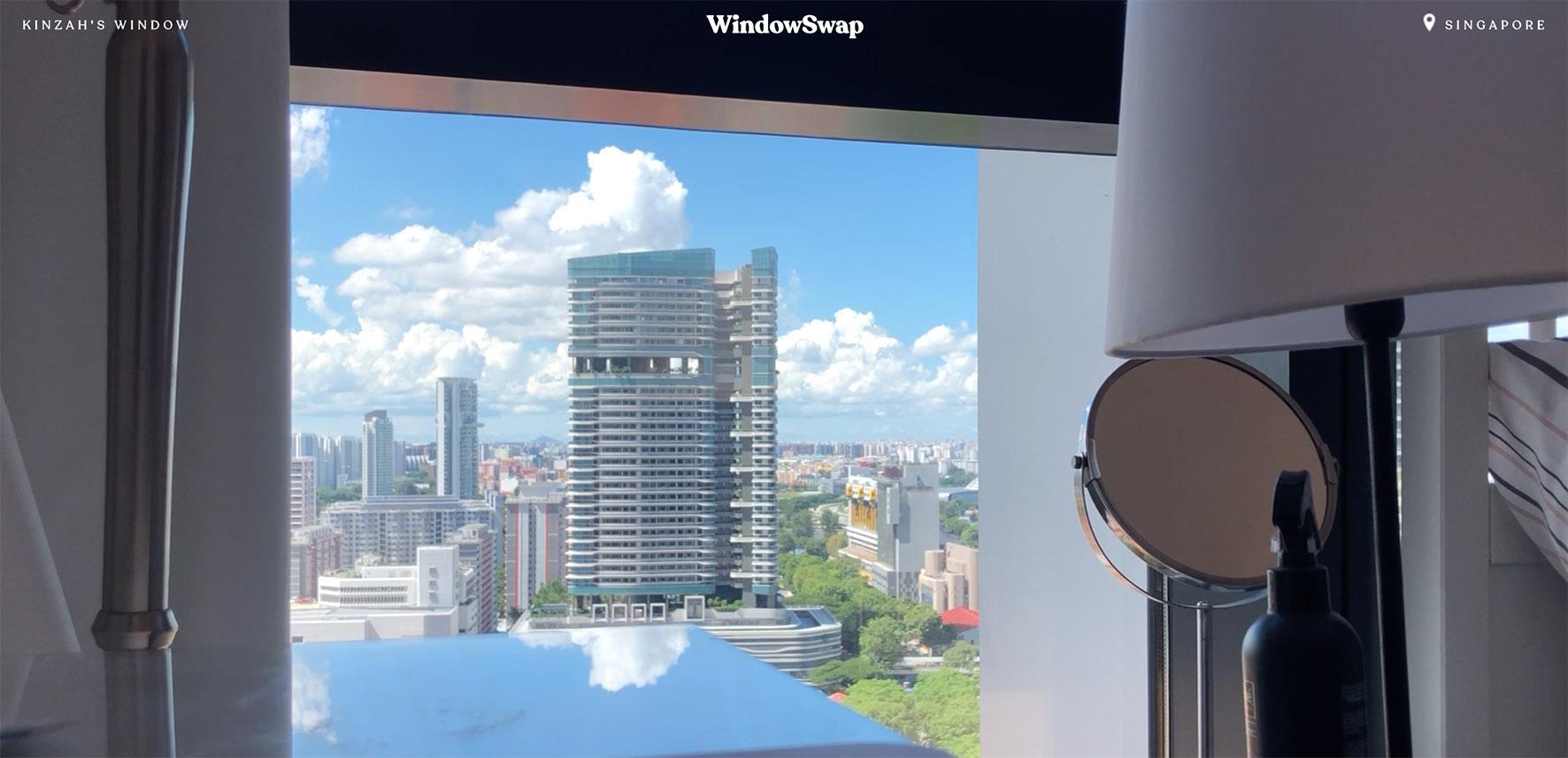 Op deze foto zie je een window in Singapore