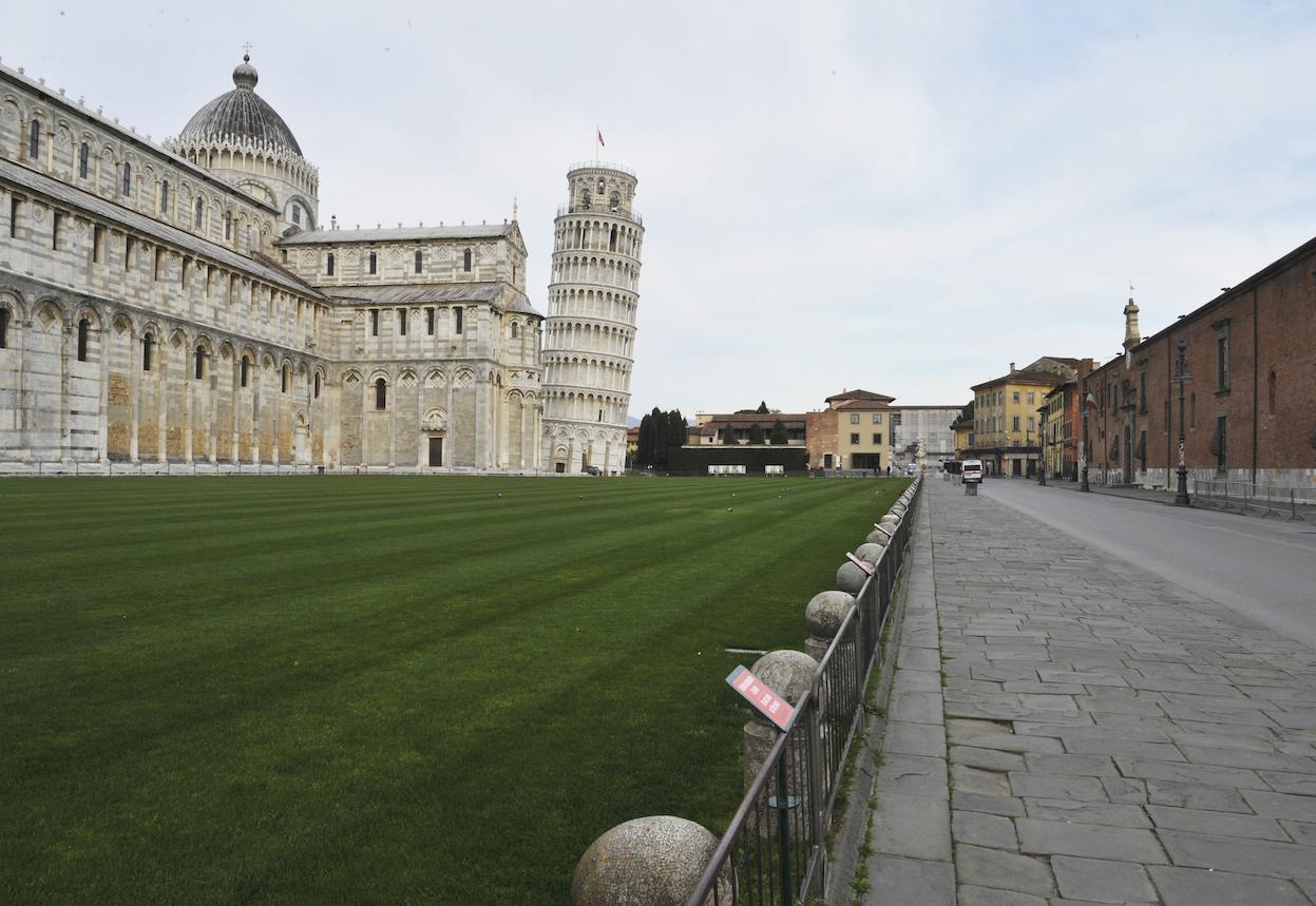 Een foto van de Toren van Pisa