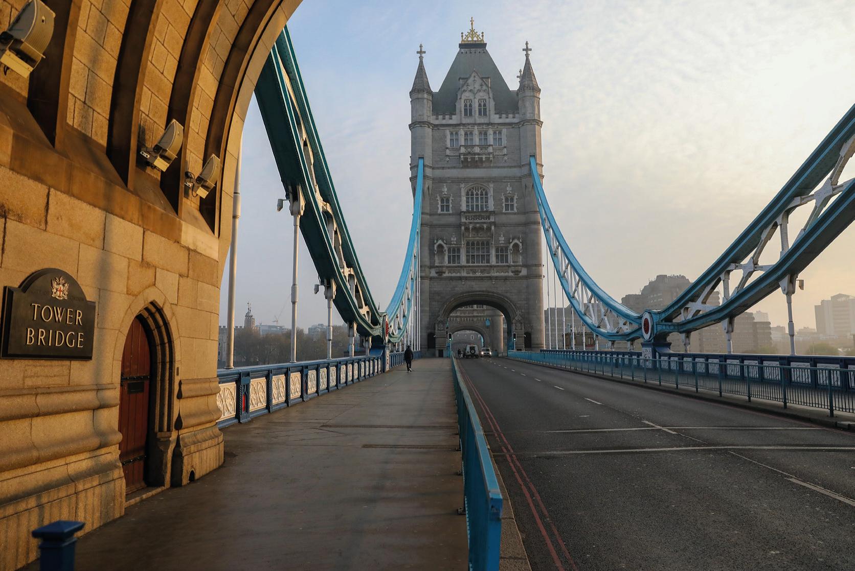 Een foto van de Tower Bridge