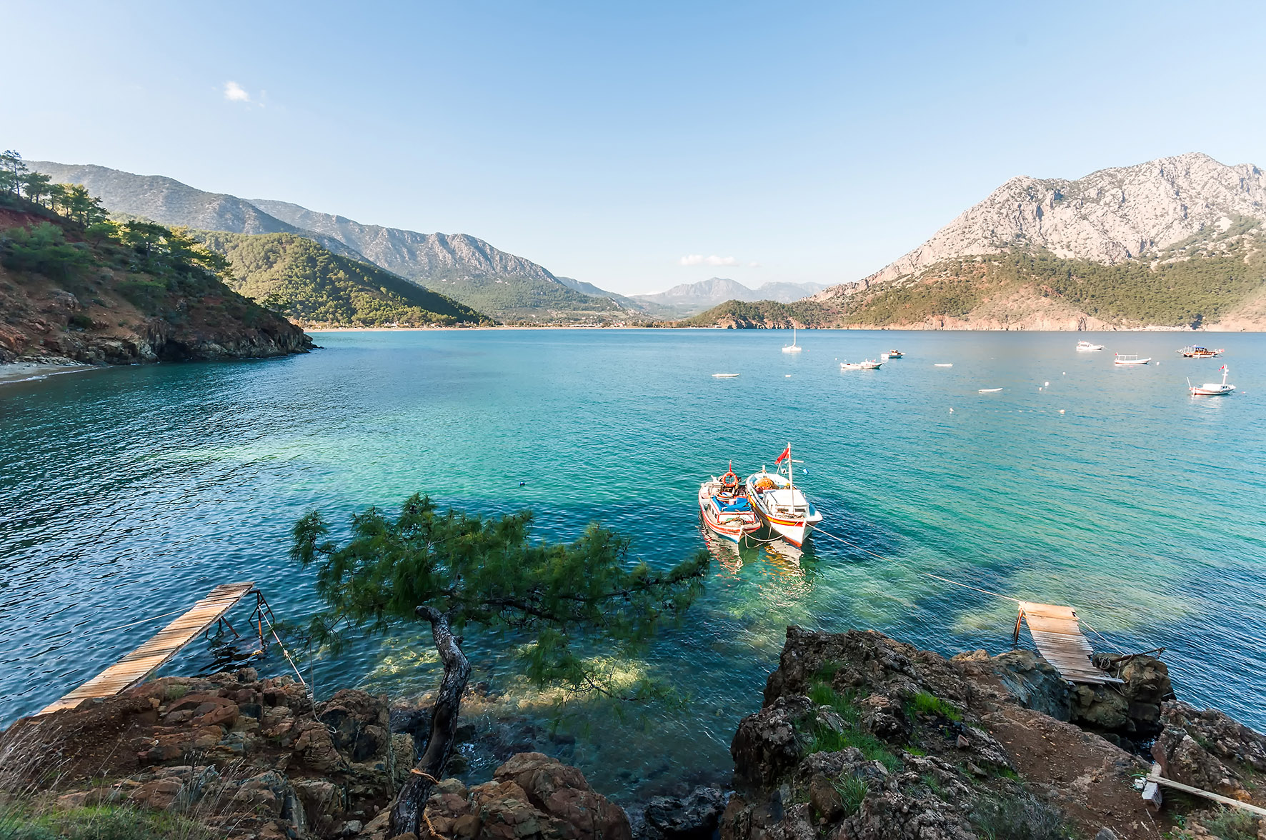Op deze foto zie je een prachtige zee bij Adrasan, Antalya