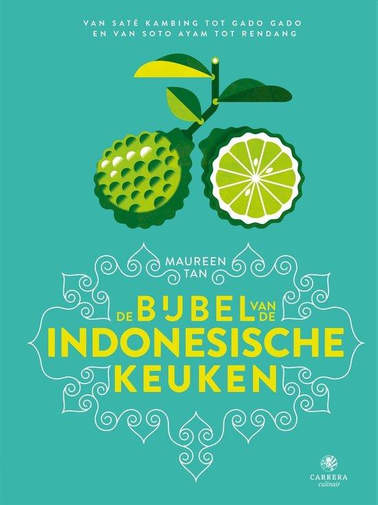 Op deze foto zie je het kookboek Bijbel van de Indonesische keuken