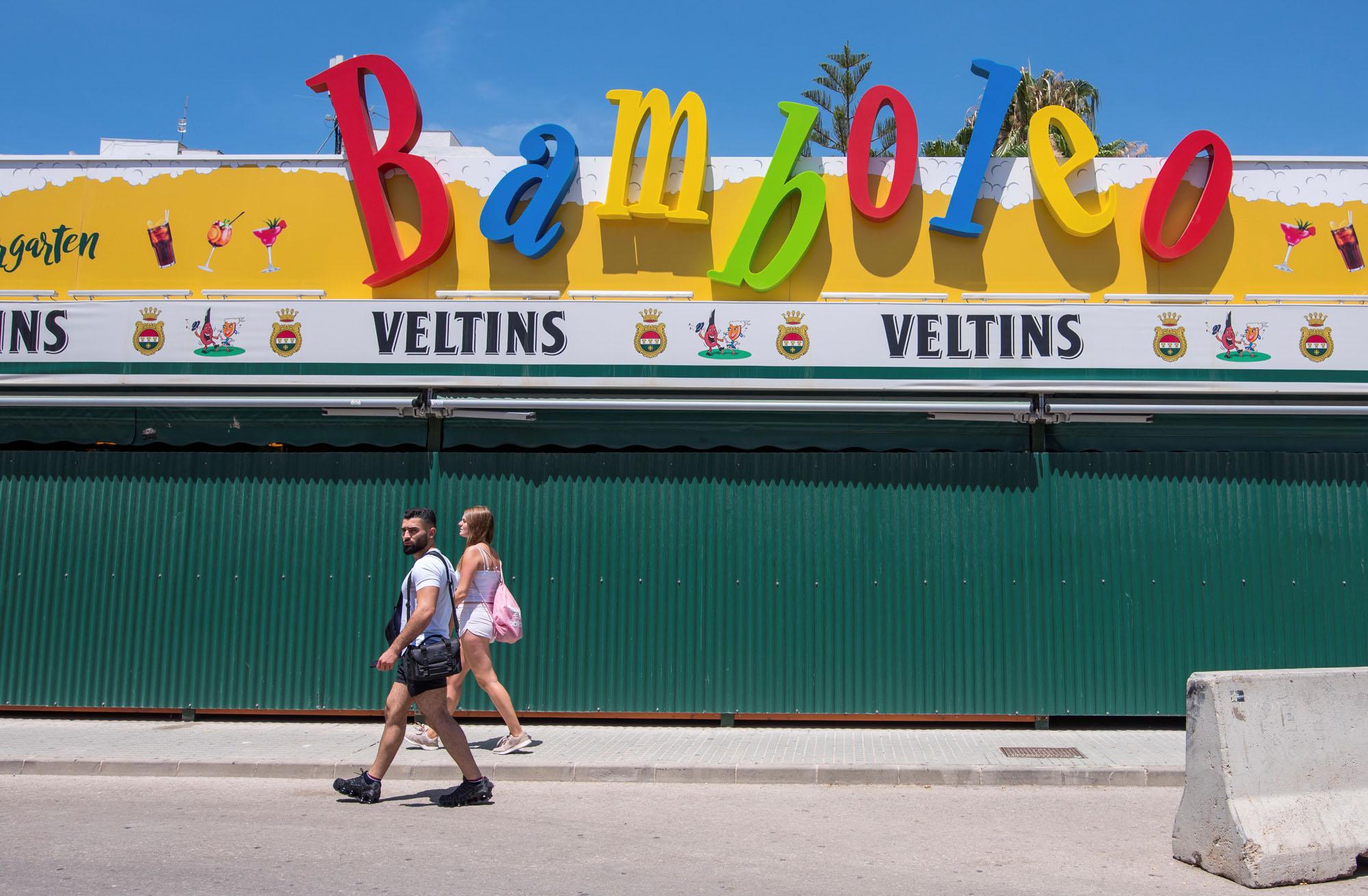 Een foto van toeristen in Mallorca