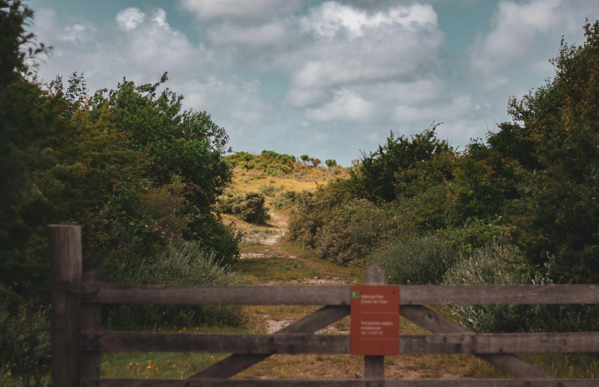 wandelen, nationaal park duinen van texel, wandelroutes, slufter