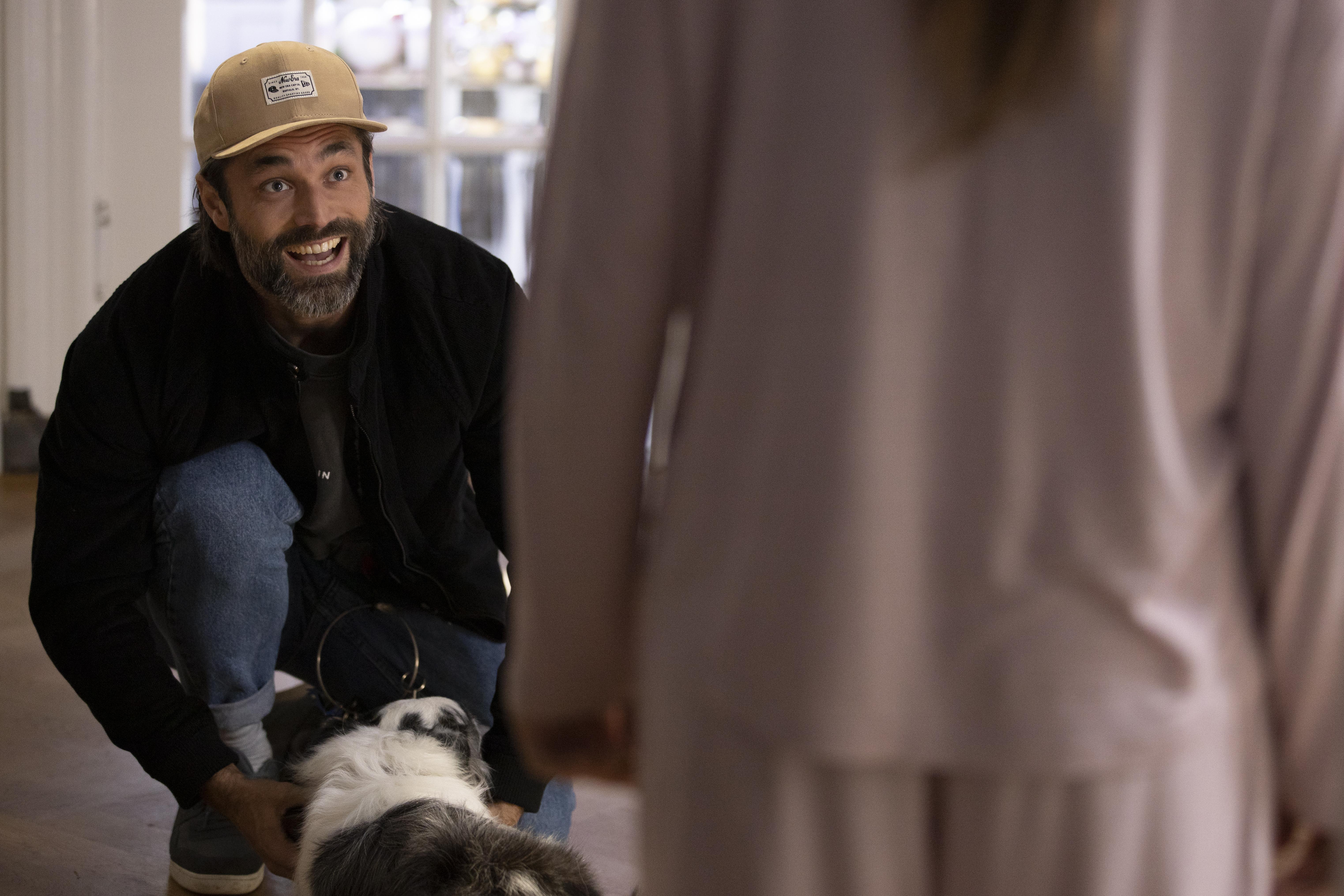 Een foto van Jan Kooijman met de hond uit de film