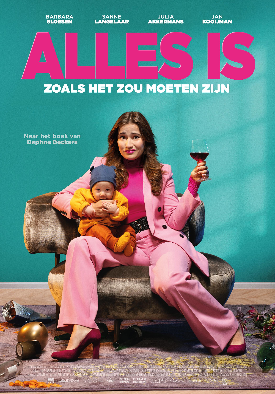 Een foto van Barbara Sloesen op de poster van Alles is zoals het zou moeten zijn
