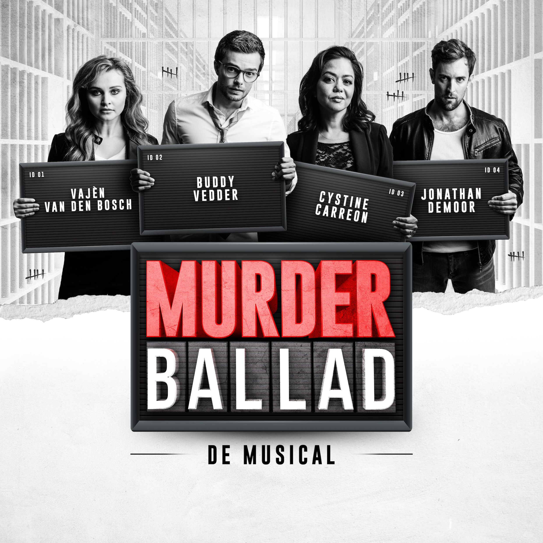 Een poster met de acteurs van Murder Ballad