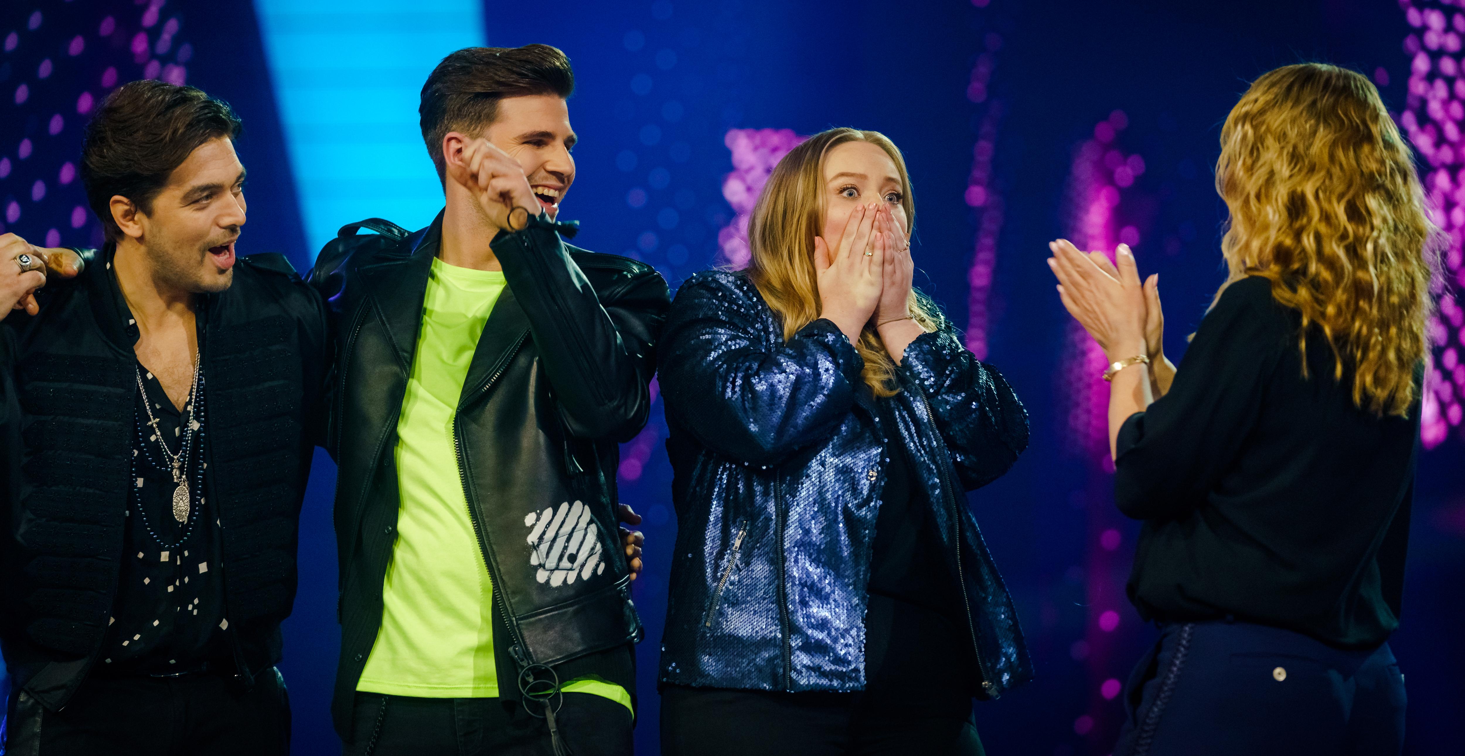 Een foto van Waylon bij de finale van The Voice of Holland