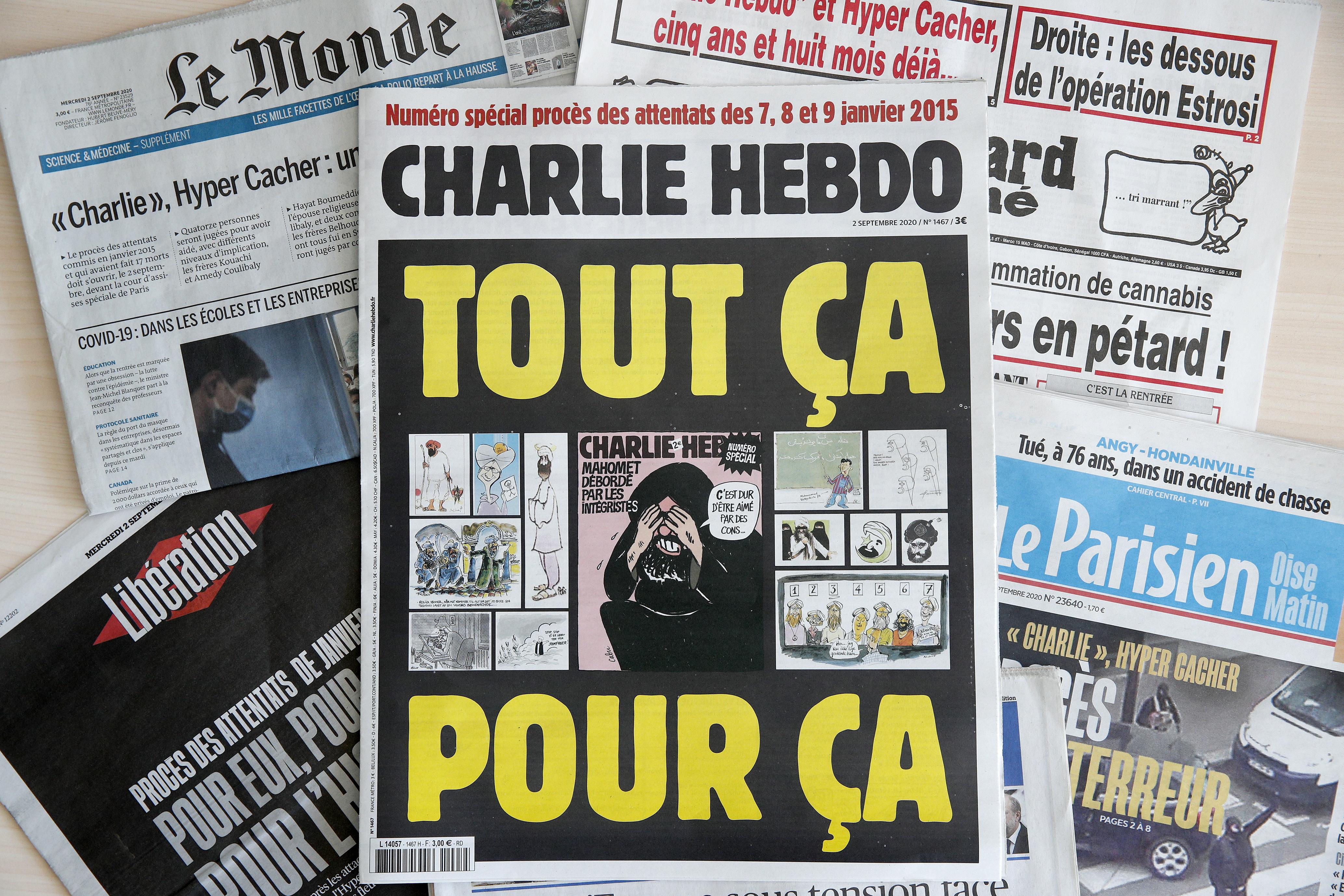 Een foto van Charlie Hebdo in 2012