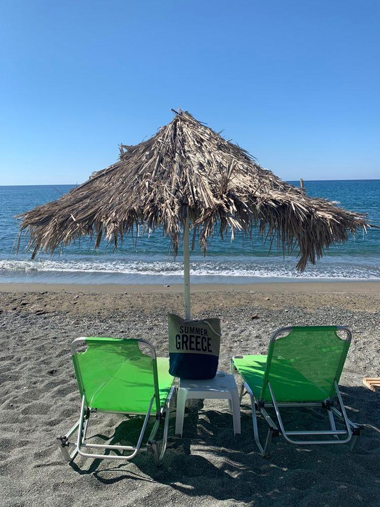 Het uitzicht van Nathalie op Kreta.