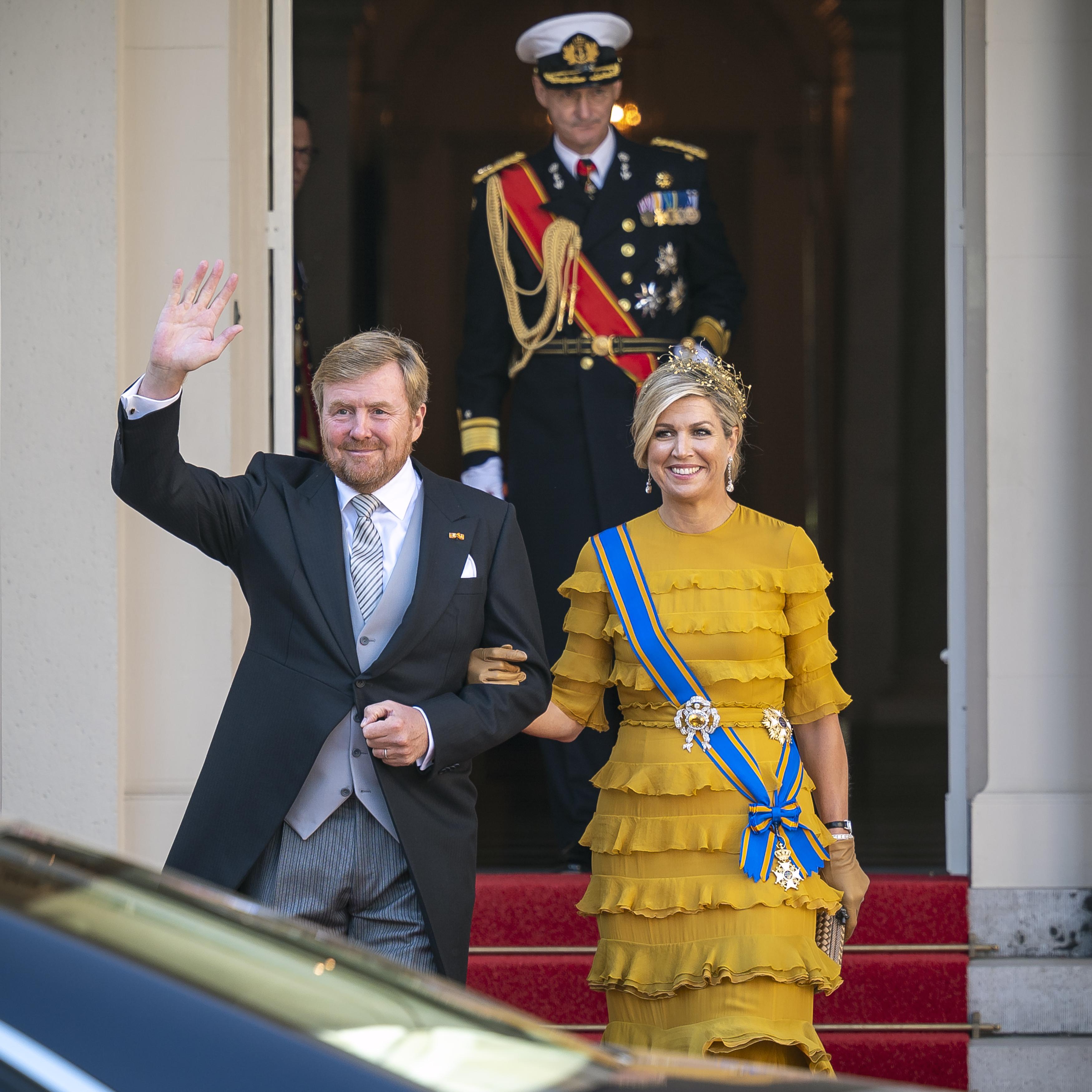 Een foto van Willem-Alexander en Máxima namens het koninklijk huis op Prinsjesdag