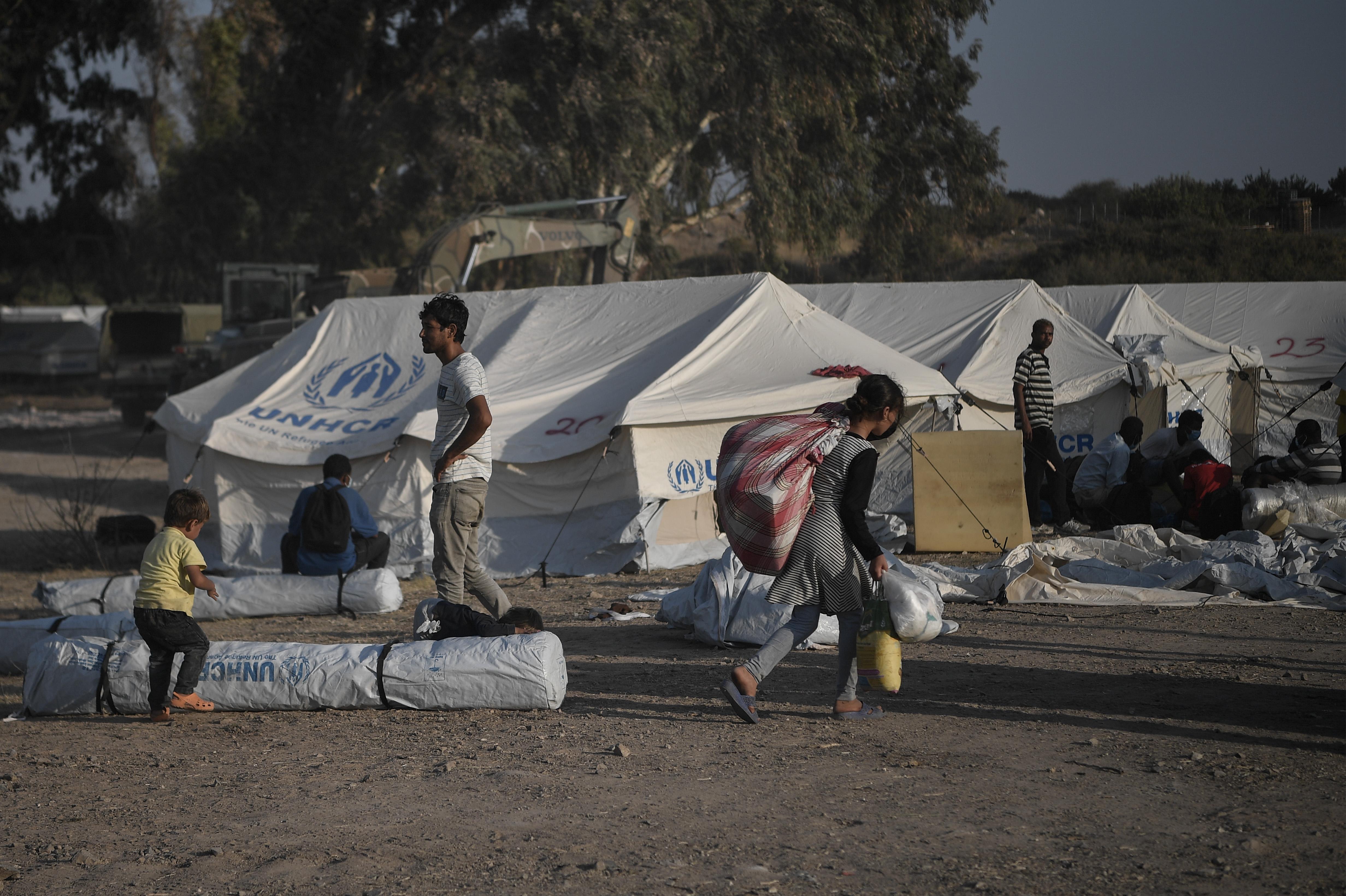 Foto van het vluchtelingenkamp