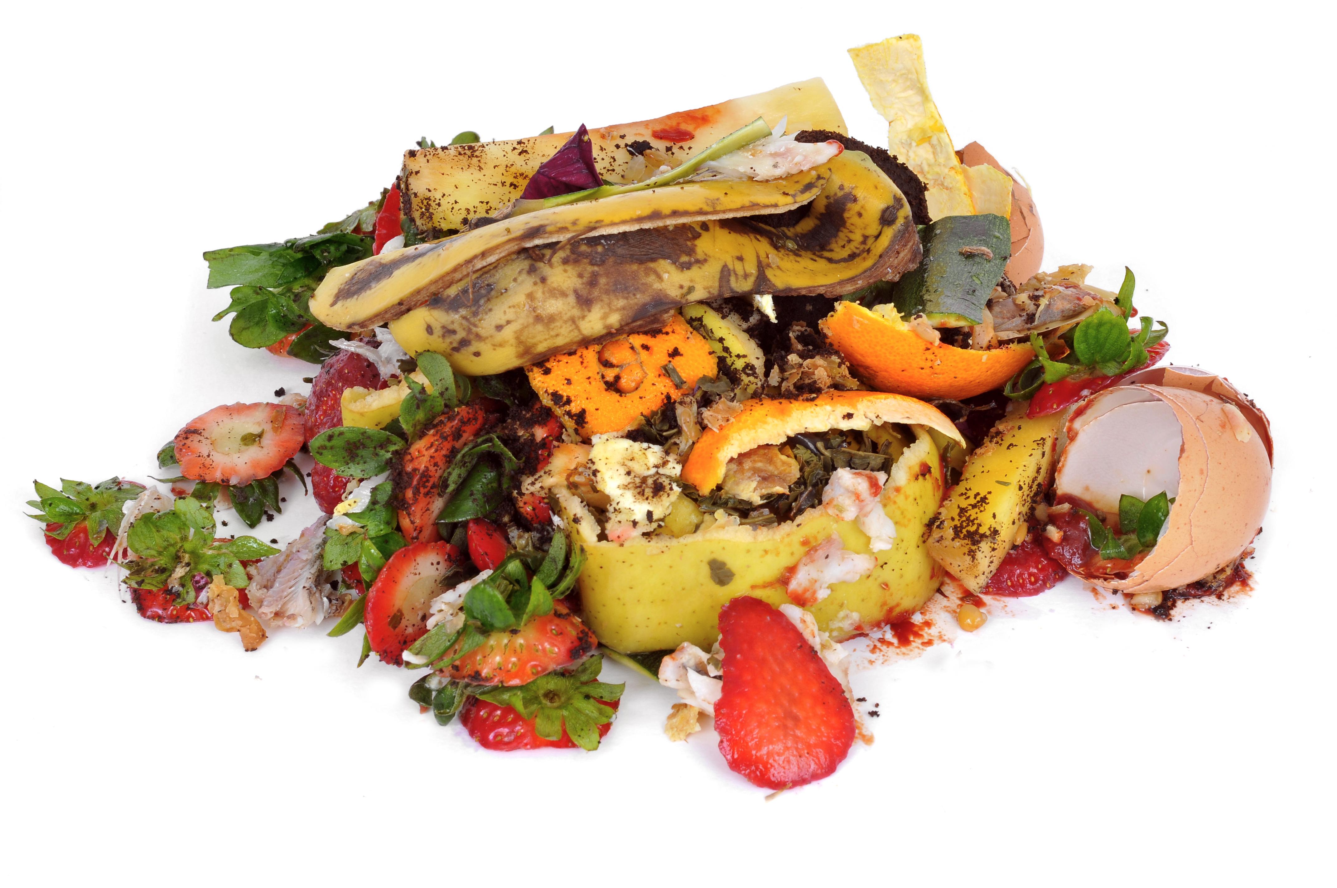 Een foto van resten eten die zorgen voor de grote voedselverspilling die we met z'n allen hebben
