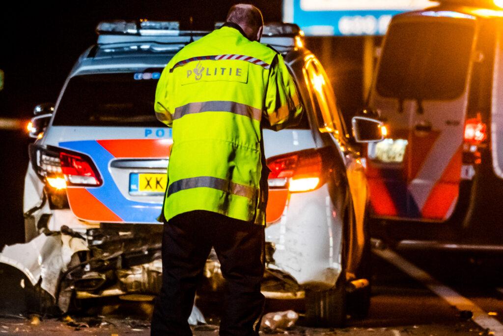 Agent overleden door aanrijding op A270 in Brabant.