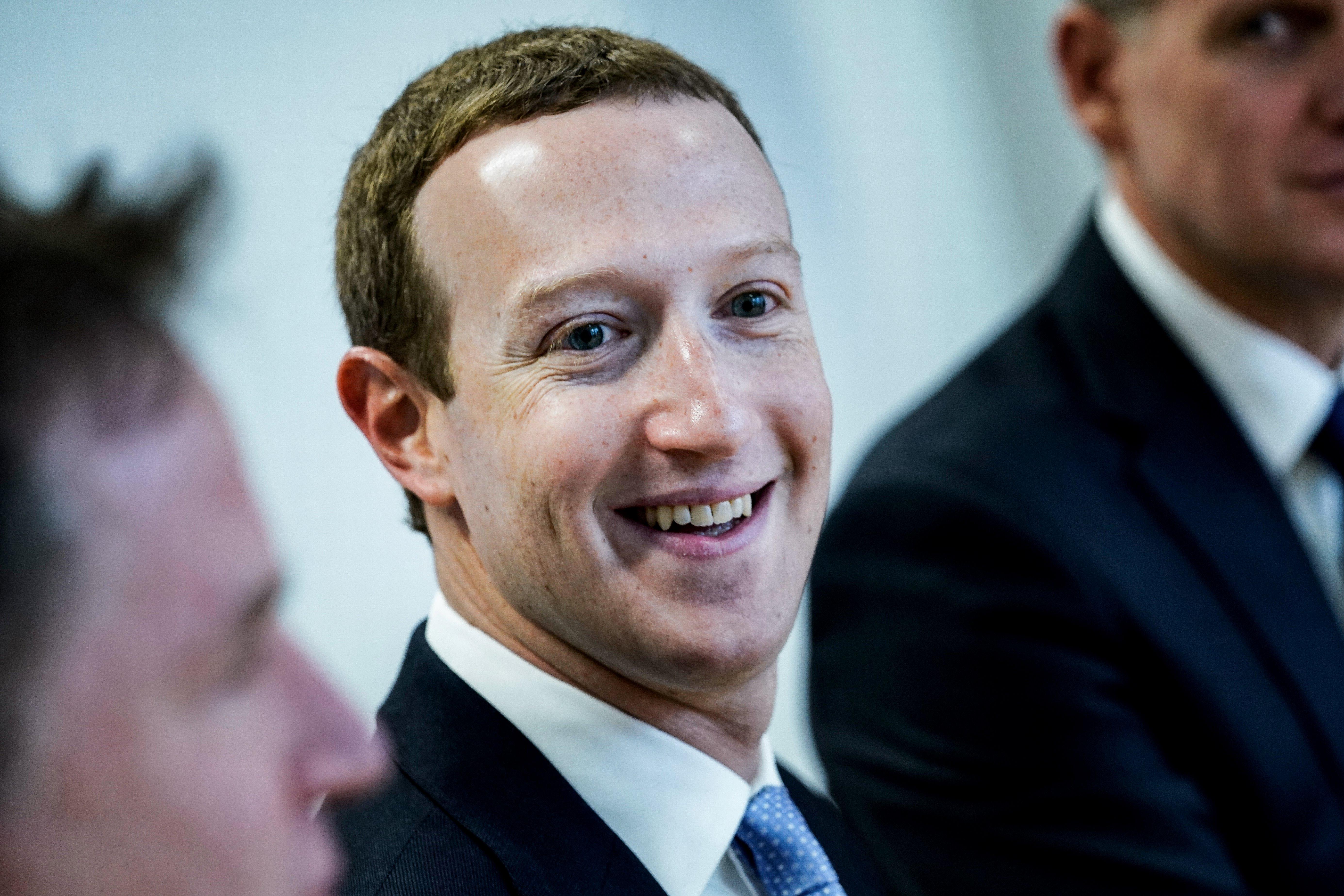 Een foto van Mark Zuckerberg van Facebook.