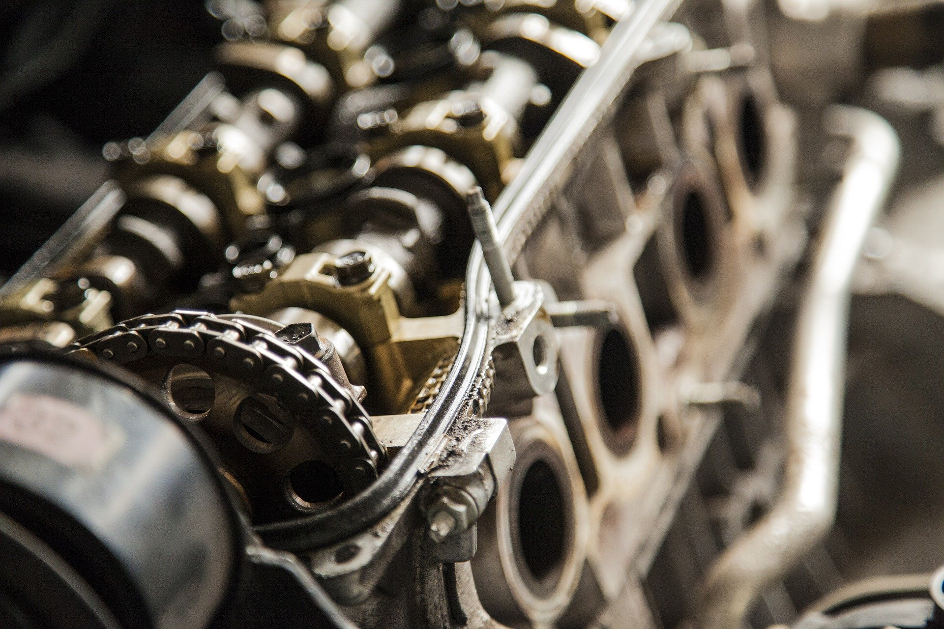 Een foto van een motor van een machine
