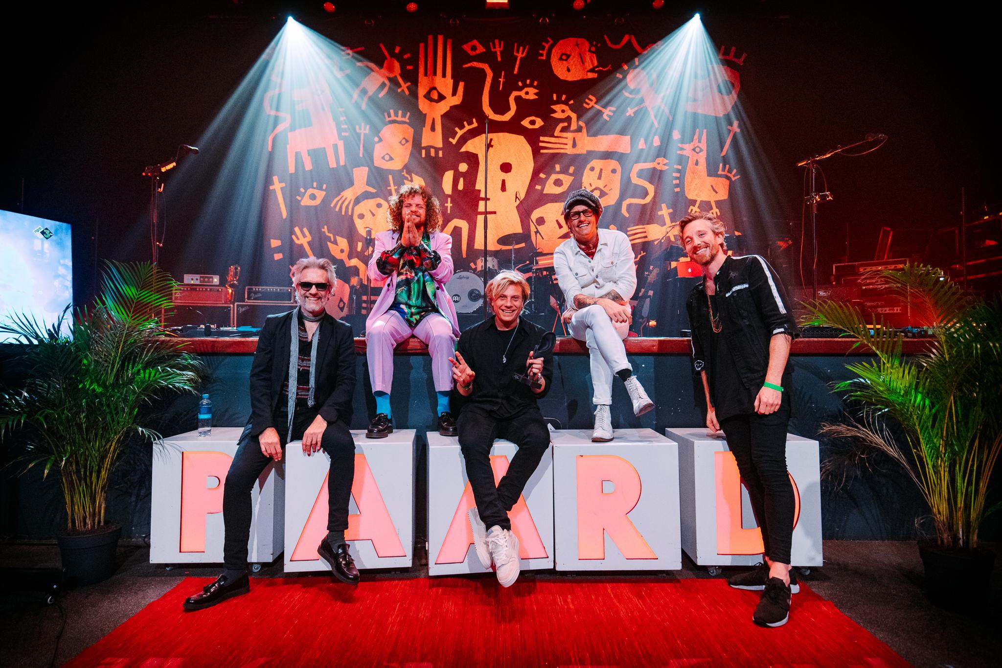 Een foto van DI-RECT bij de 3FM Awards