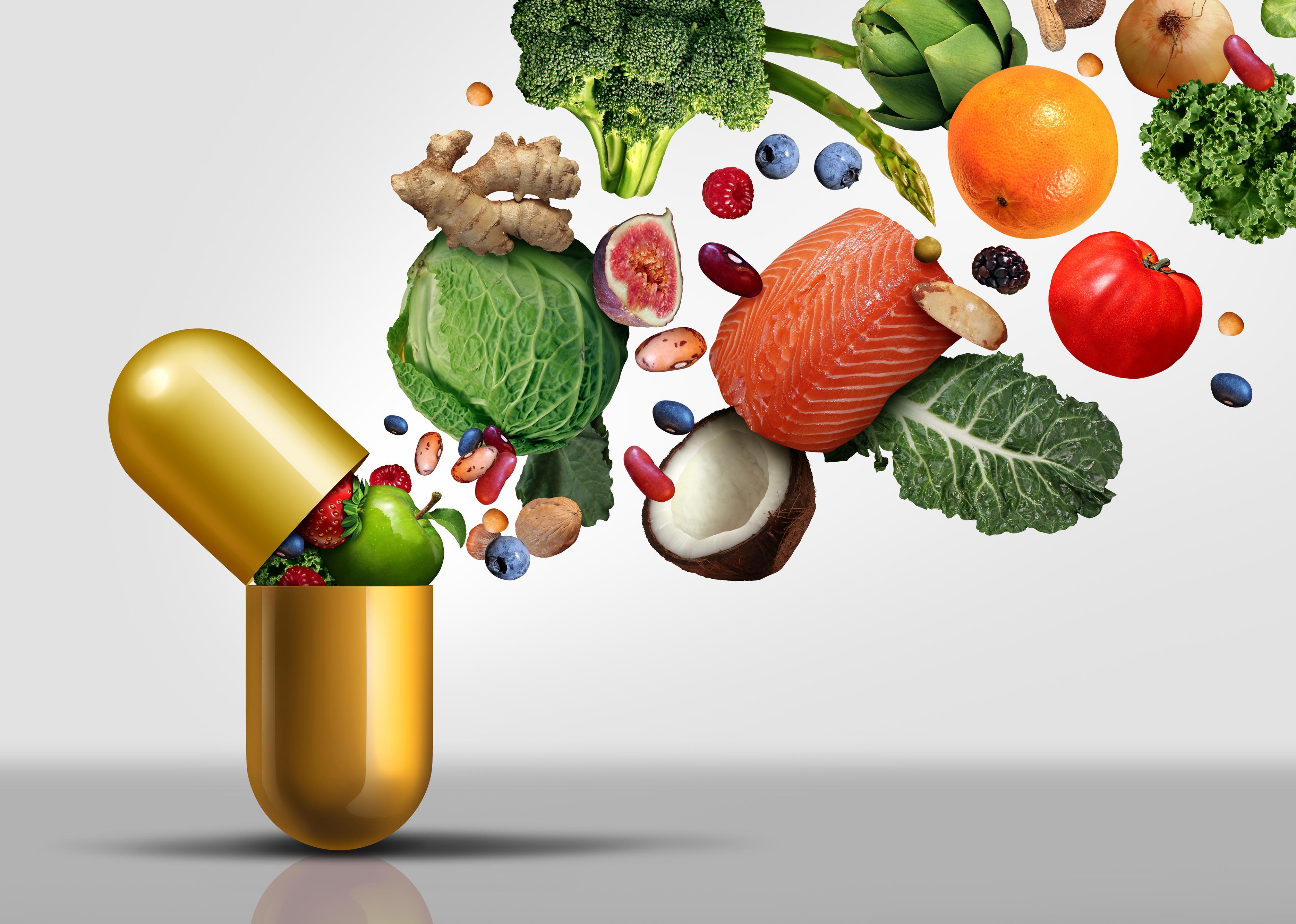 Een foto van vitamines