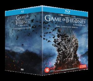 Een foto van de box van Game of Thrones