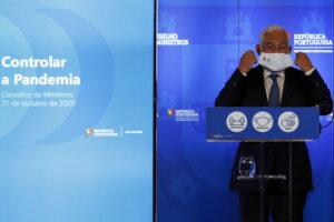 Een foto van de Portugese premier Antonio Costa