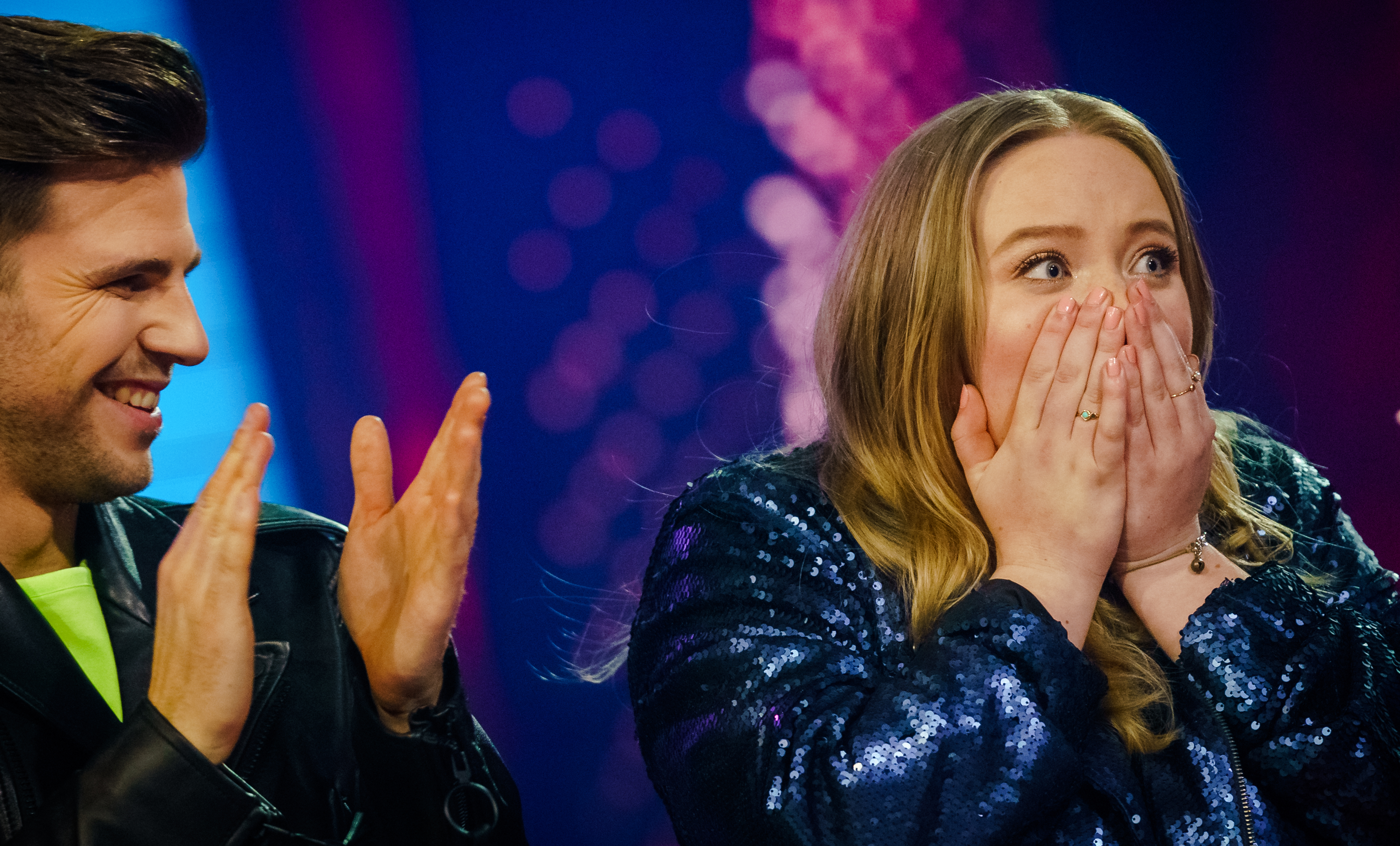 Een foto van hét moment van Sophia's coronajaar: winst in The Voice