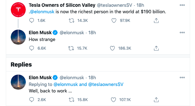 Un tweet genial de Elon Musk